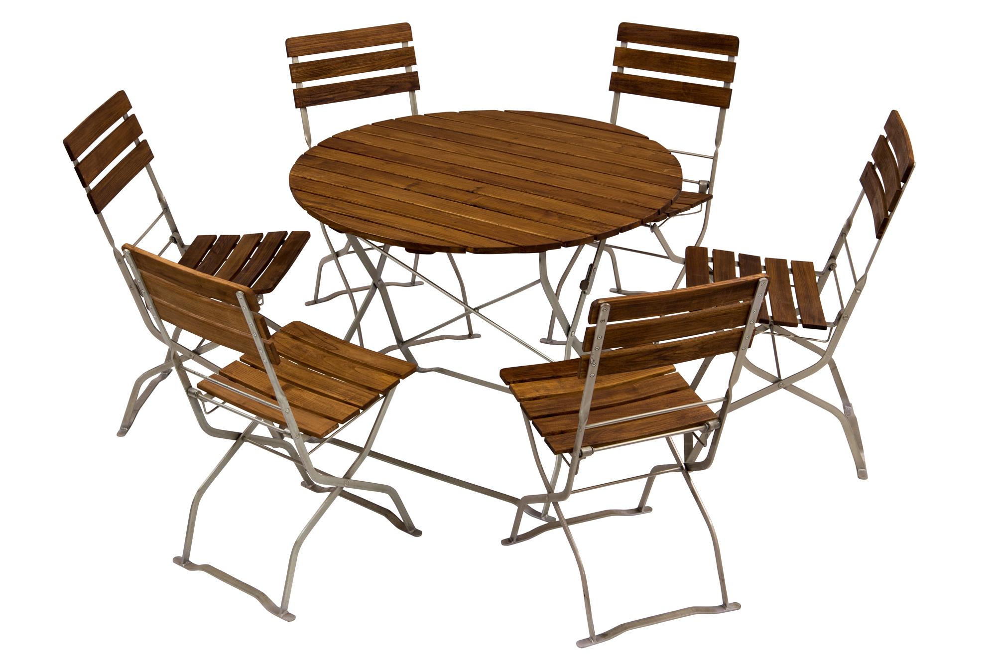 meubles de jardin table ronde avec des chaises